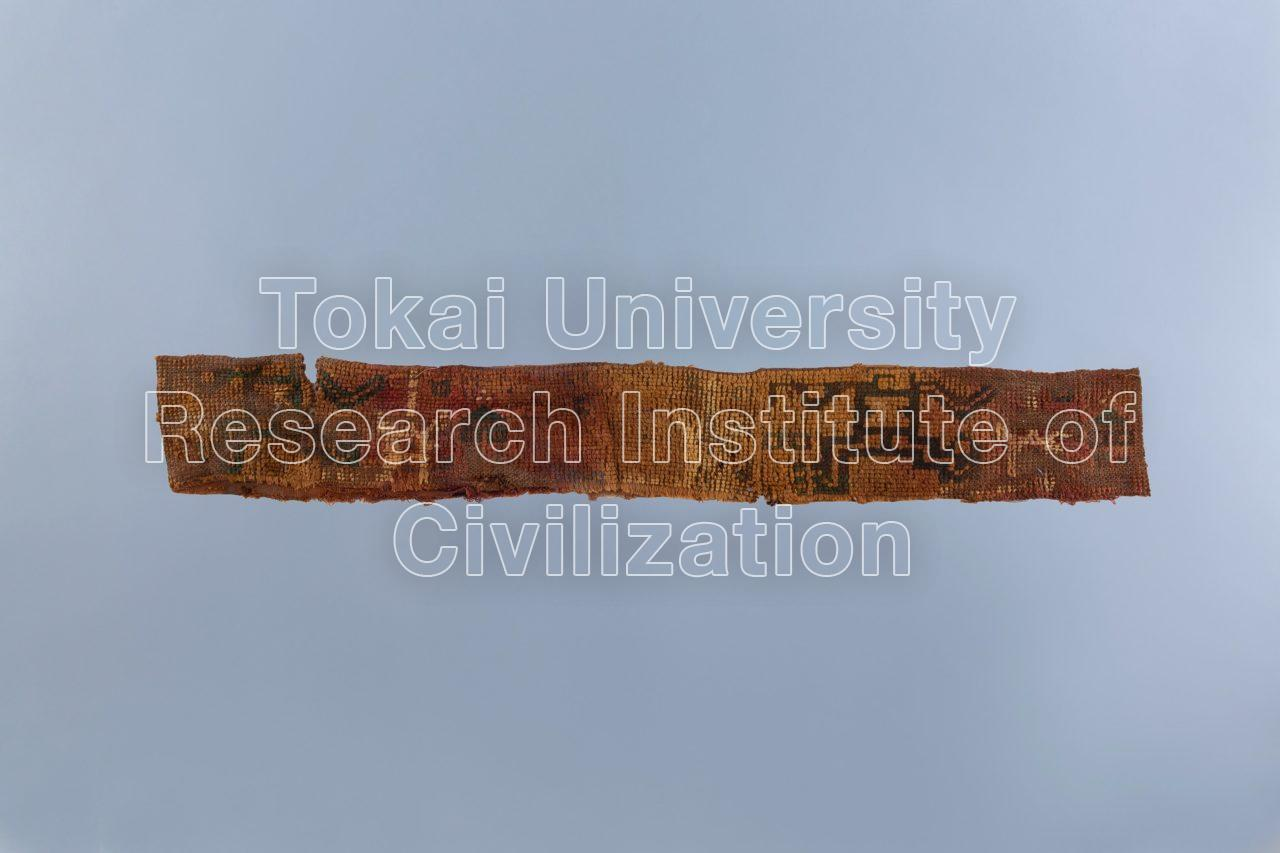 人物文輪糸織(パイル)裂