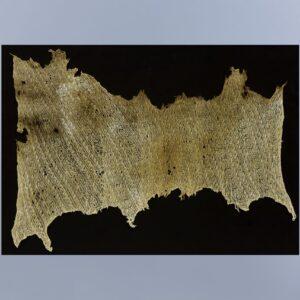 羅織地波鳥文刺繍レース裂