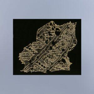 鳥合文刺繍レース裂