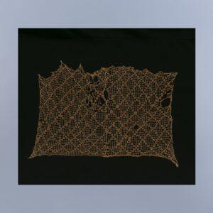 幾何文刺繍レース裂
