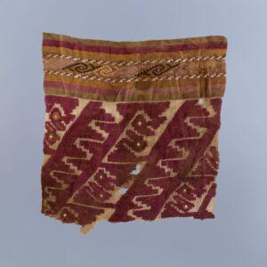 鳥幾何縫取織裂