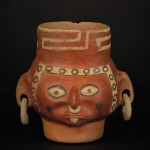 土製耳飾り付人頭象形壺