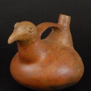 鳥象形把手付単注口壺