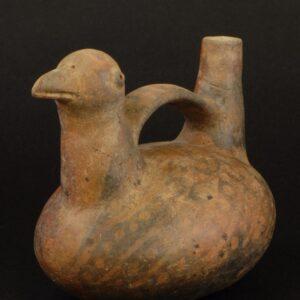 水鳥象形把手付鳴笛壺