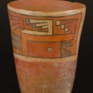 コンドル彩画ケーロ型土器